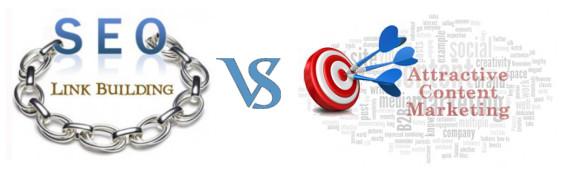 Seo Link Building vs Attractive Content Marketing